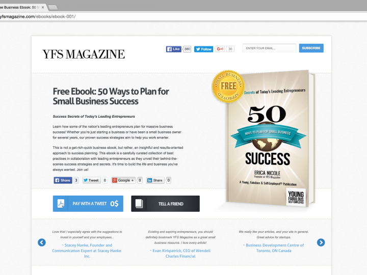 YFS Magazine Debuts Ebook to Reveal Success Secrets of Leading Entrepreneurs