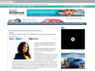 Black Enterprise Reveals Erica Nicole's 'Female Entrepreneur Rules to Follow'