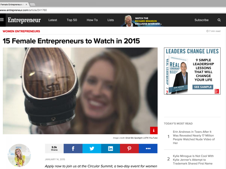 YFS Magazine Founder Named 1 of '15 Female Entrepreneurs to Watch in 2015′