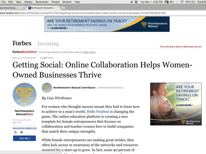 Forbes Talks With YFS Magazine Founder On Women's Entrepreneurship